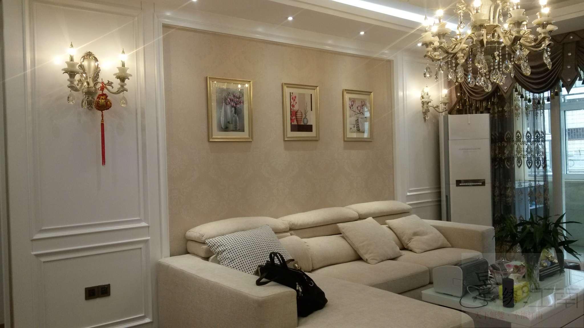 【三元世纪城七秀小区】薛总雅居欧式风格实景照之沙发背景